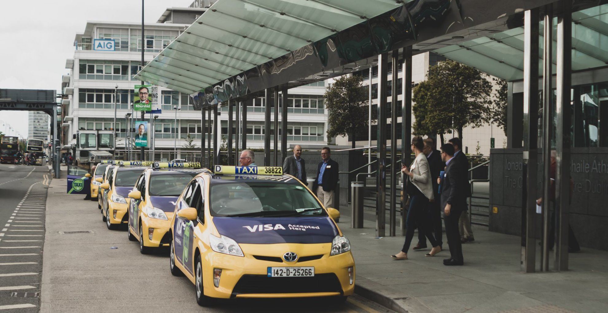taxi ads convention center dublin