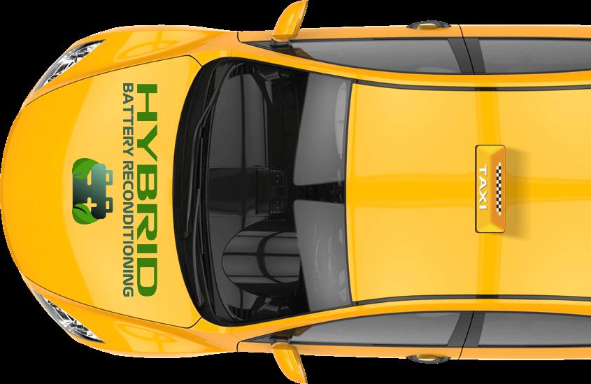 taxi advert hybrid battery