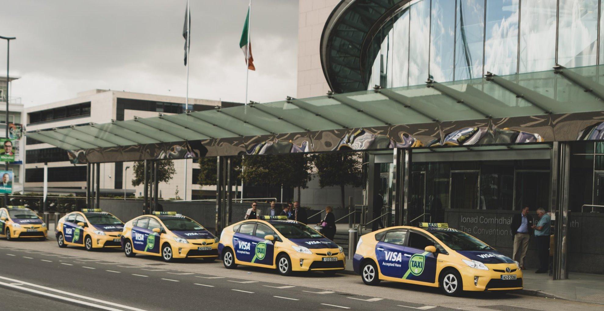 convention center taxi fleet ads